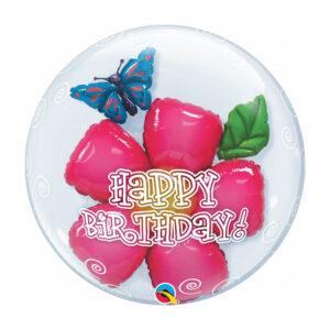 Double Bubble Birthday Flower /Ballon in Ballon
