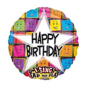 Happy Birthday Faces mit Musik