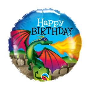 Folienballon Birthday Mythical Dragon