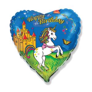 """Folienballon """"Birthday Unicorn"""""""
