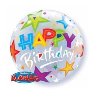 Air Bubble Happy Birthday Stars