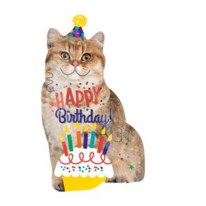 Ballon Happy Birthday Cat