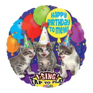Happy Birthday singende Katzen