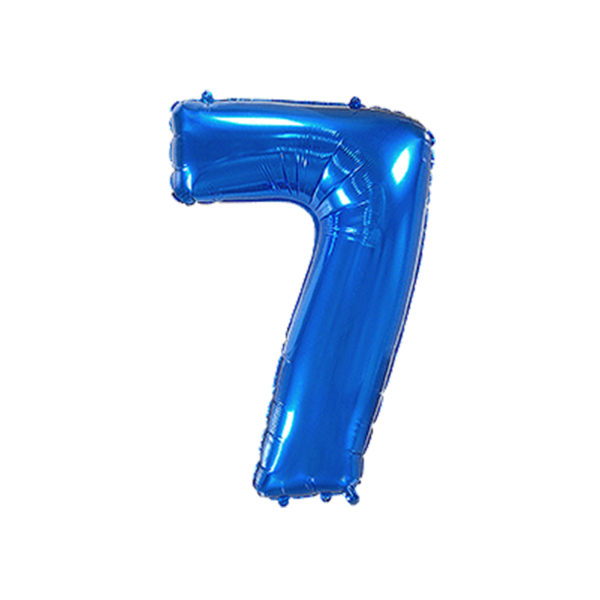 Folienballon Zahl 7 - Blau