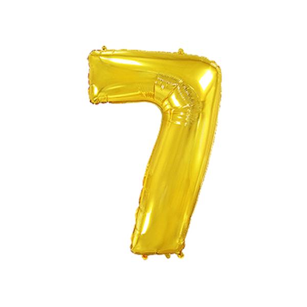 Folienballon Zahl 7 - Gold