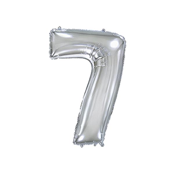 Folienballon Zahl 7 - Silber